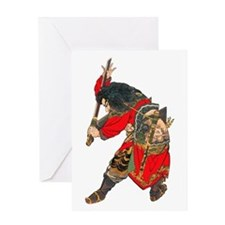 Japanese Samurai Warrior Greeting Card