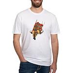 Japanese Samurai Warrior Fitted T-Shirt