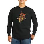 Japanese Samurai Warrior Long Sleeve Dark T-Shirt