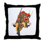 Japanese Samurai Warrior Throw Pillow