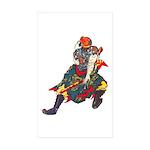 Japanese Samurai Warrior Sticker (Rectangle 50 pk)