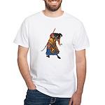 Japanese Samurai Warrior White T-Shirt