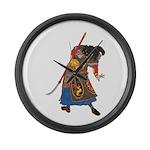 Japanese Samurai Warrior Large Wall Clock