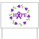 Pancreatic Cancer Hope Hearts Yard Sign