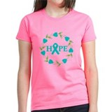 Ovarian Cancer Hope Hearts Tee