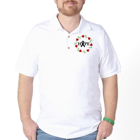 Melanoma Hope Hearts Golf Shirt