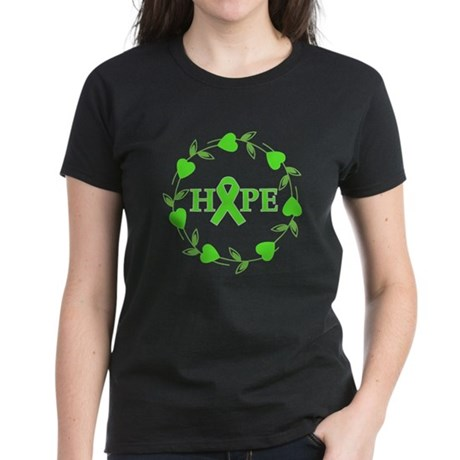 Lymphoma Hope Hearts Women's Dark T-Shirt