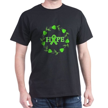 Lymphoma Hope Hearts Dark T-Shirt