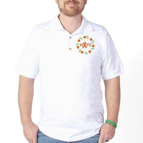 Kidney Cancer Hope Hearts Golf Shirt