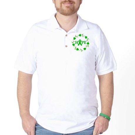Kidney Cancer Hope Hearts 2 Golf Shirt