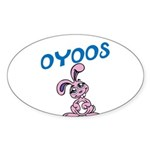 OYOOS Kids Bunny design Sticker (Oval 50 pk)