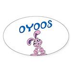 OYOOS Kids Bunny design Sticker (Oval 50 pk)