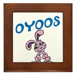OYOOS Kids Bunny design Framed Tile