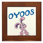 OYOOS Kids Bunny design Framed Tile