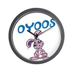 OYOOS Kids Bunny design Wall Clock