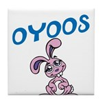 OYOOS Kids Bunny design Tile Coaster