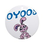 OYOOS Kids Bunny design Ornament (Round)