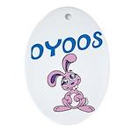 OYOOS Kids Bunny design Ornament (Oval)