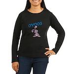 OYOOS Kids Bunny design Women's Long Sleeve Dark T