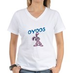 OYOOS Kids Bunny design Women's V-Neck T-Shirt