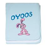 OYOOS Kids Bunny design baby blanket