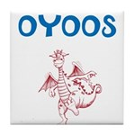 OYOOS Kids Dragon design Tile Coaster