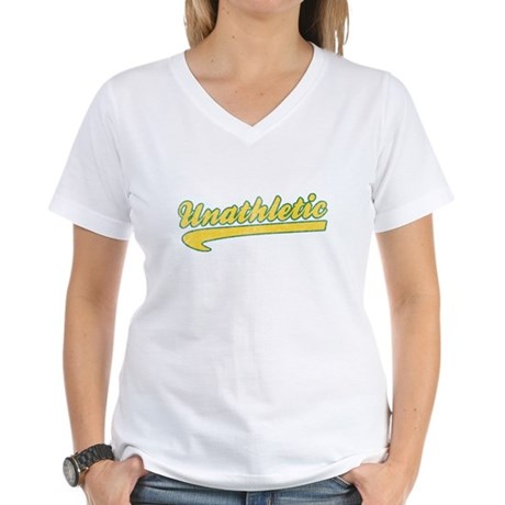 Unathletic Womens V-Neck T-Shirt