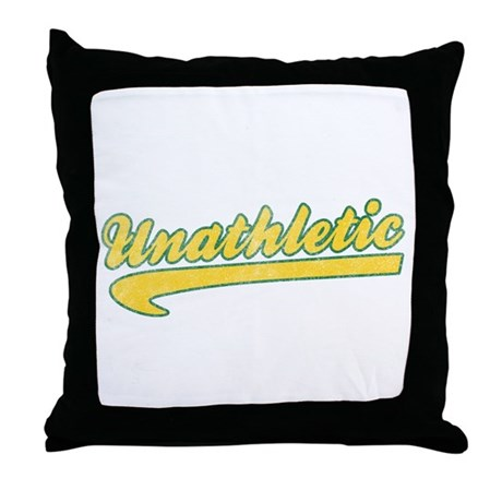 Unathletic Throw Pillow