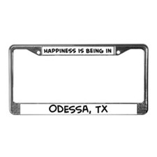 Happiness is Odessa License Plate Frame
