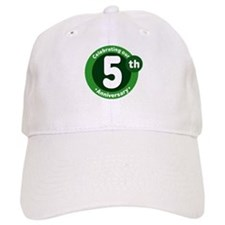 5th Anniversary Green Gift Baseball Cap