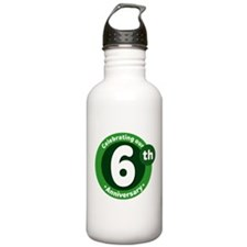 6th Anniversary Green Gift Water Bottle