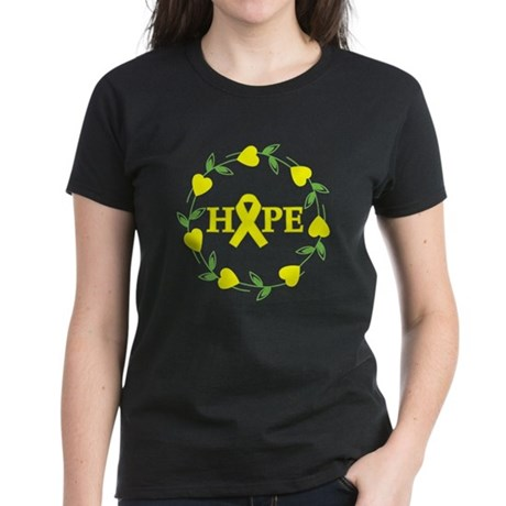 Bladder Cancer Hope Hearts Women's Dark T-Shirt