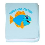 Take Me Fishing baby blanket