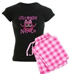 Little Monster Nicole Women's Dark Pajamas