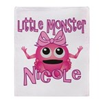 Little Monster Nicole Throw Blanket