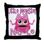 Little Monster Nicole Throw Pillow
