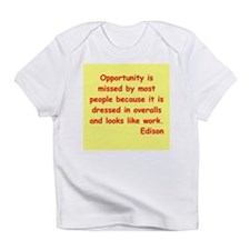 Thomas Edison quotes Infant T-Shirt