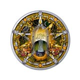 "Samhain Pentacle 3.5"" Button (100 pack)"