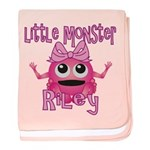 Little Monster Riley baby blanket