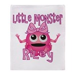 Little Monster Riley Throw Blanket