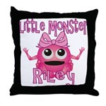 Little Monster Riley Throw Pillow