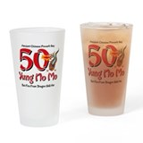 Yung No Mo 50th Birthday Drinking Glass