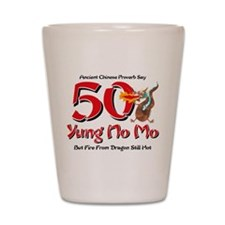 Yung No Mo 50th Birthday Shot Glass