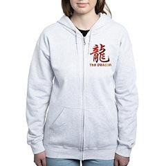 Chinese Astrology Dragon Sign Women's Zip Hoodie