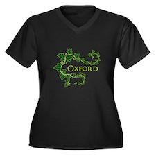 Oxford Women's Plus Size V-Neck Dark T-Shirt