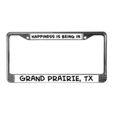 Happiness is Grand Prairie License Plate Frame
