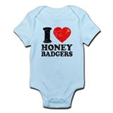 I Love Honey Badgers Infant Bodysuit