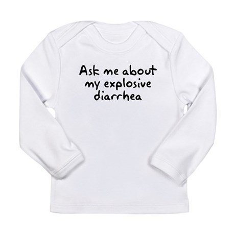 Ask Me About My Explosive Dia Long Sleeve Infant T