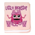 Little Monster Willow baby blanket