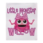 Little Monster Willow Throw Blanket